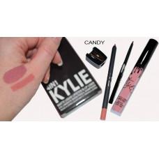 Матовый блеск KYLIE 4 in 1 Candy (блеск + карандаш для губ + выдвижной черный карандаш для глаз + точилка)