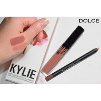 Матовый блеск для губ + карандаш Kylie Lipstick & Lip Liner Dolce