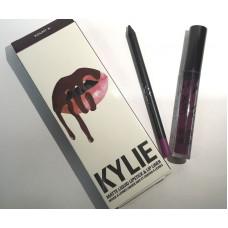 Матовый блеск для губ + карандаш Kylie Lipstick & Lip Liner Kourt